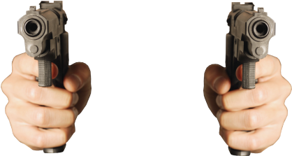 Transparent Hand With Gun Png, Png Download {#4431575 ...