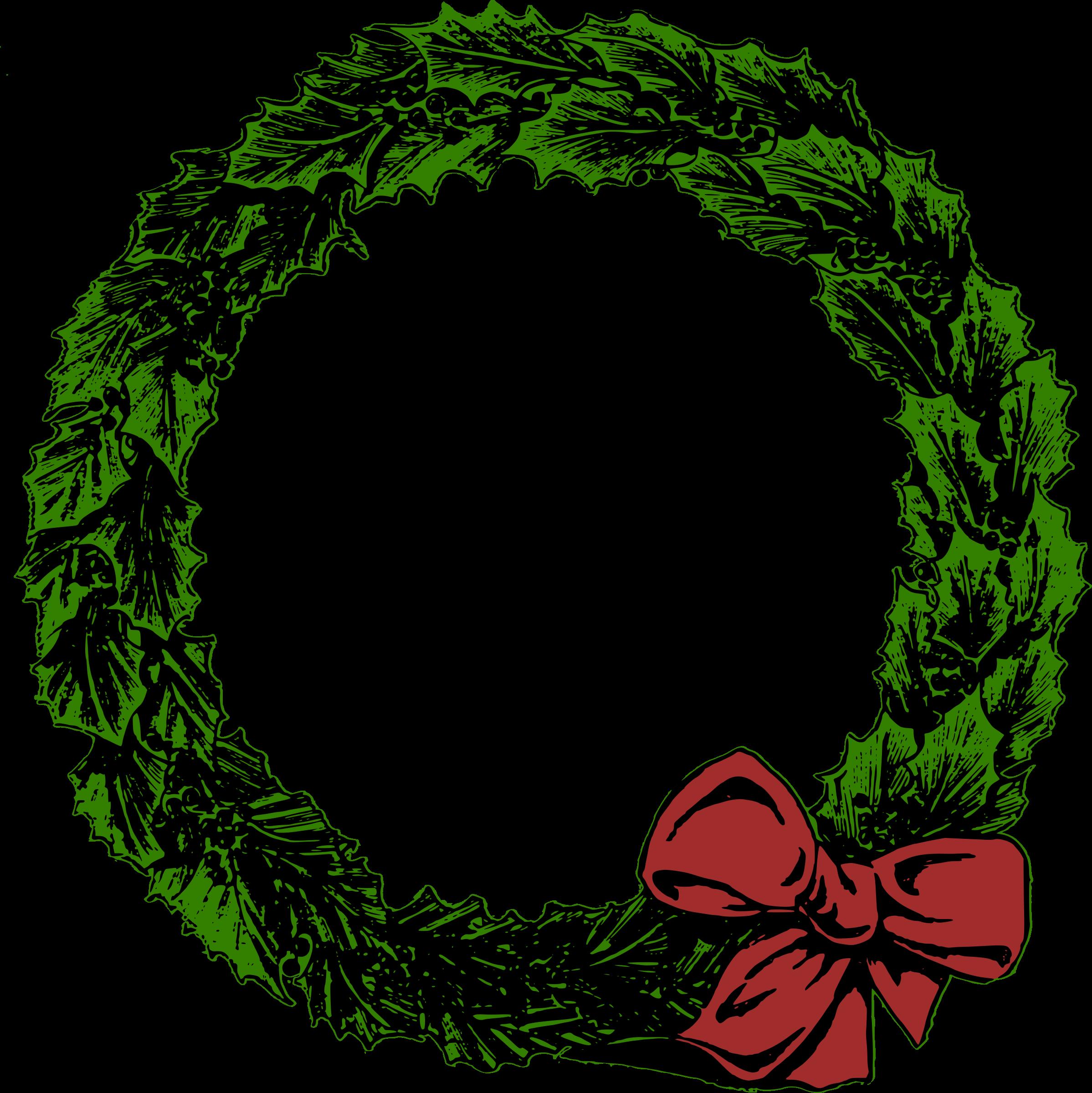 Plain Christmas Wreath Clipart, HD Png Download {#65256 ...