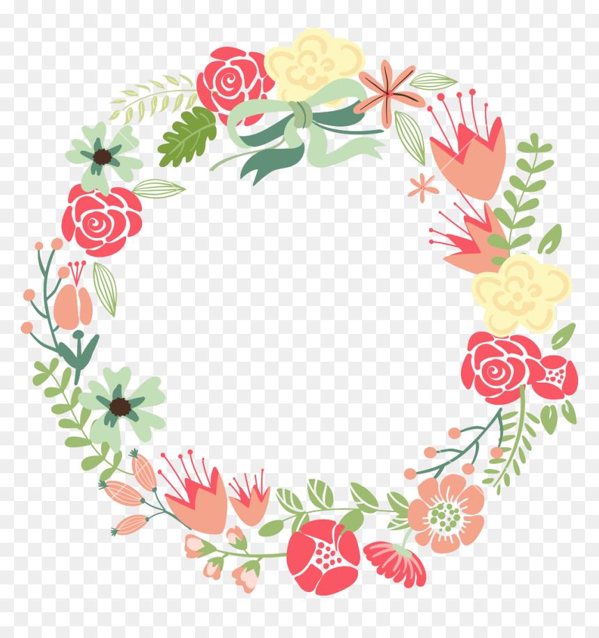 Calligraphy Floral Border Design, HD Png Download