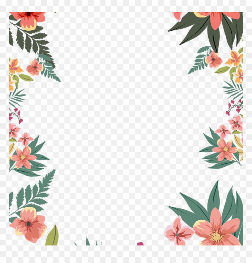 Floral Border For Word Document, HD Png Download