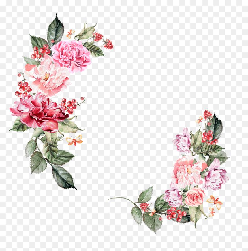 Floral Border Png Hd, Transparent Png