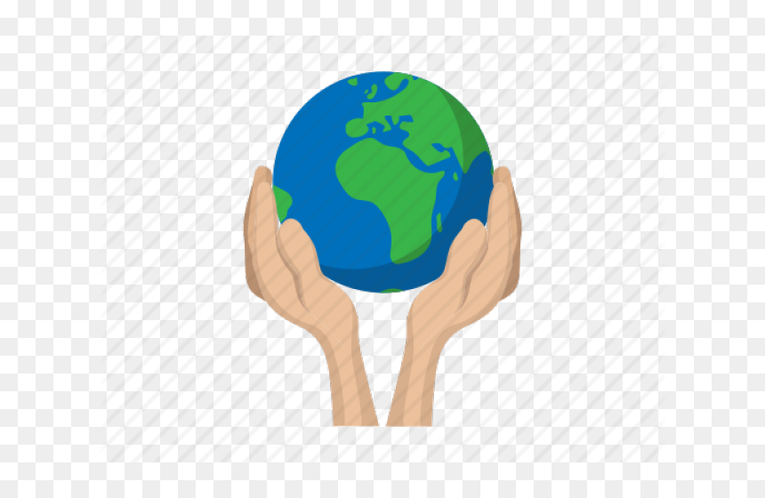 Hand Holding Earth Png, Transparent Png