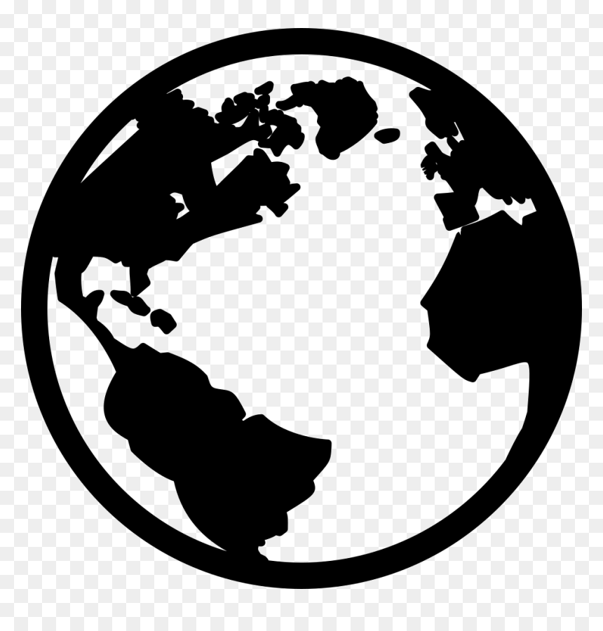 Earth Black And White Png, Transparent Png