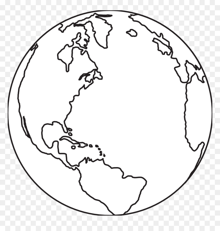 Earth Clipart Black And White, HD Png Download
