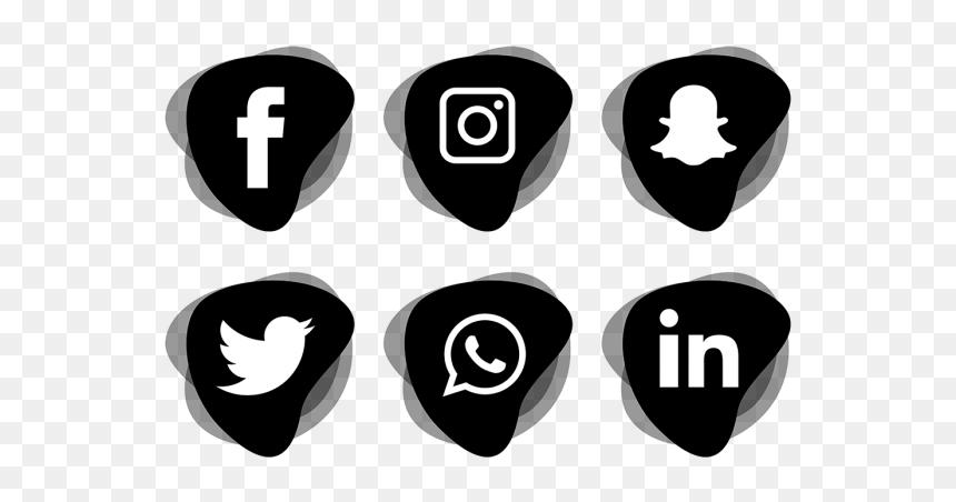 Transparent Background Social Media Icons Png, Png Download
