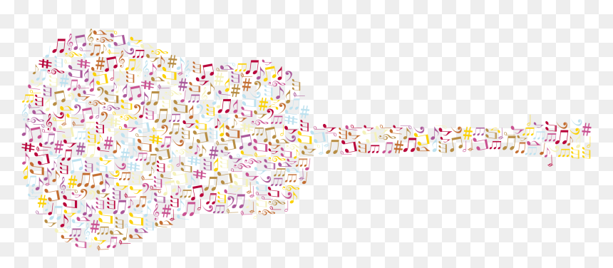 Music Note Guitar Background, HD Png Download