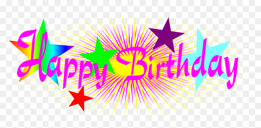 Happy Birthday Png Text, Transparent Png