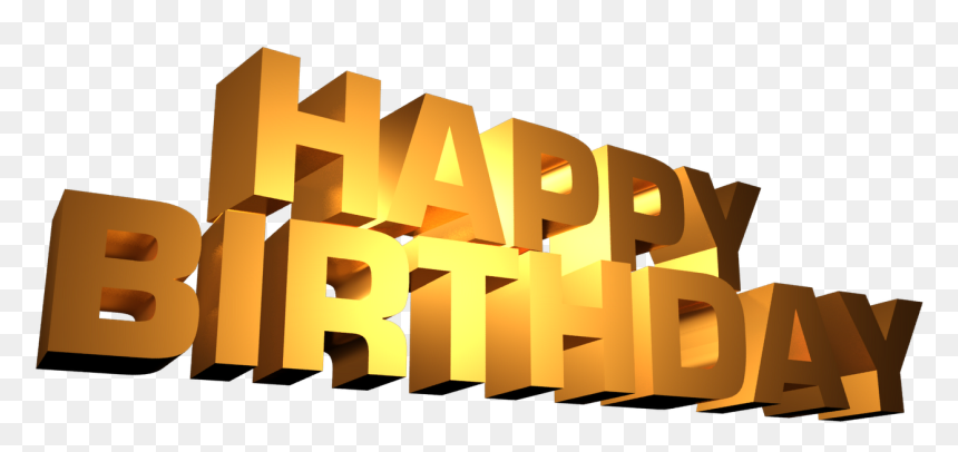 Happy Birthday Png Letters, Transparent Png
