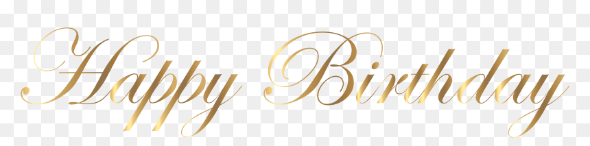 Happy Birthday In Gold Png, Transparent Png
