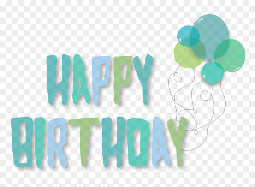 Blue And Green Happy Birthday, HD Png Download