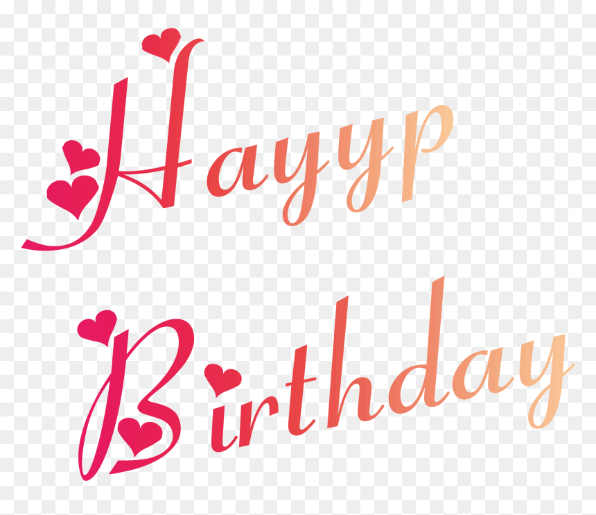 Happy Birthday Fonts In Heart, HD Png Download