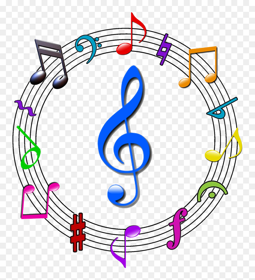 Colorful Music Note Symbol, HD Png Download