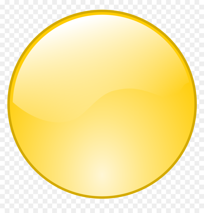 Yellow Dot Icon Png, Transparent Png