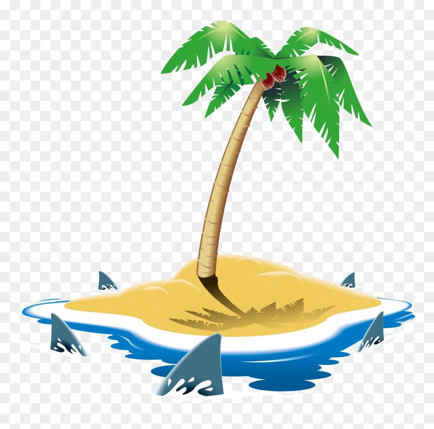 ภาพ วาด รูป เกาะ, HD Png Download