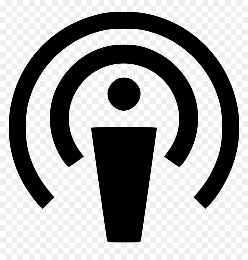 Podcast Icon Svg Free, HD Png Download