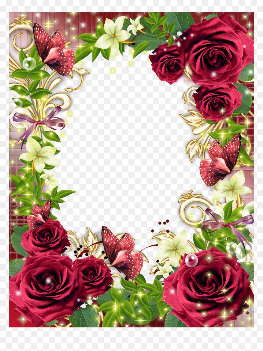 Rose Flower Border Design Hd Png Download 2000x2571 Png Dlf Pt