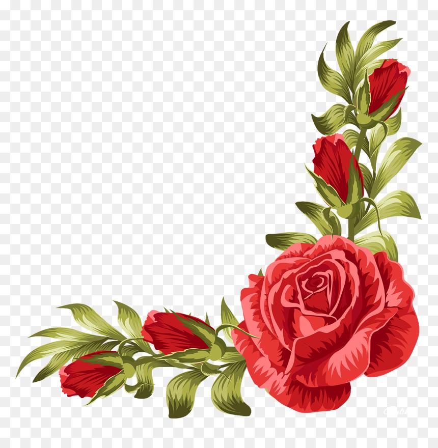 Transparent Roses Border Clipart, HD Png Download