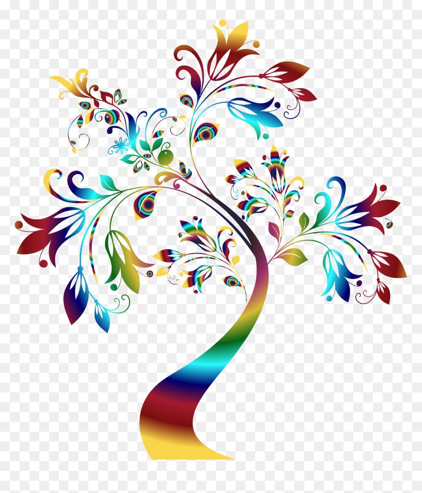 Colorful Floral Designs Png, Transparent Png