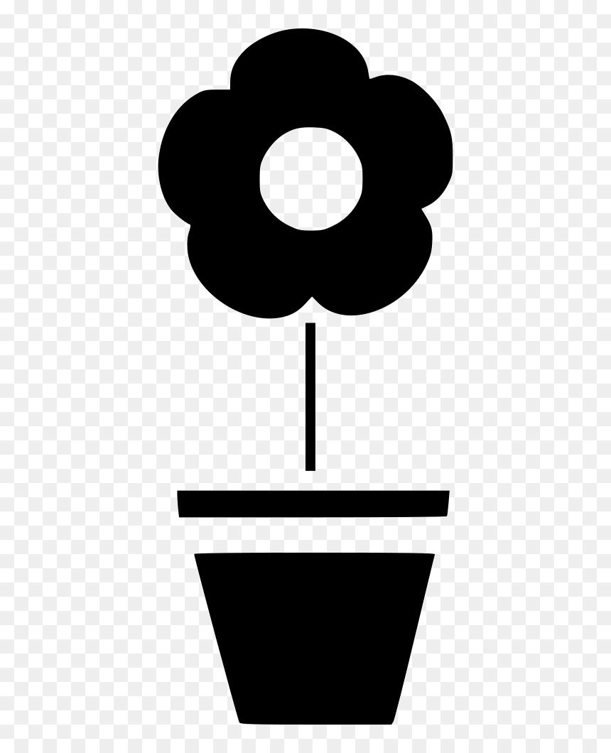 Pot Flower Plant - Flower Plant Icon Png, Transparent Png