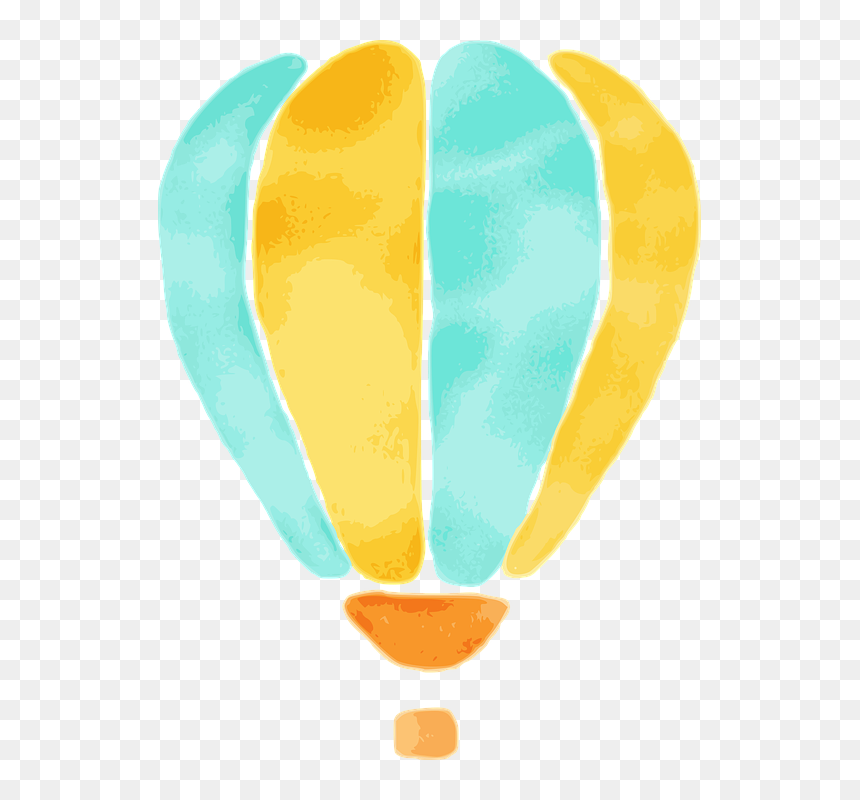 Balloon, Watercolor, Design, Colorful, Figure, Pictured - Yellow Watercolor Balloons Png, Transparent Png