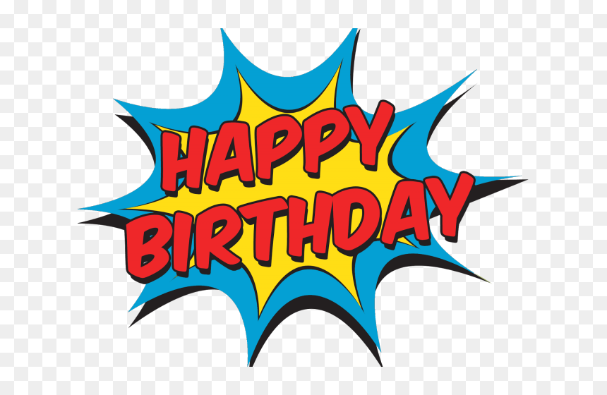 Transparent Batman Head Png - Happy Birthday Comic Clipart, Png Download