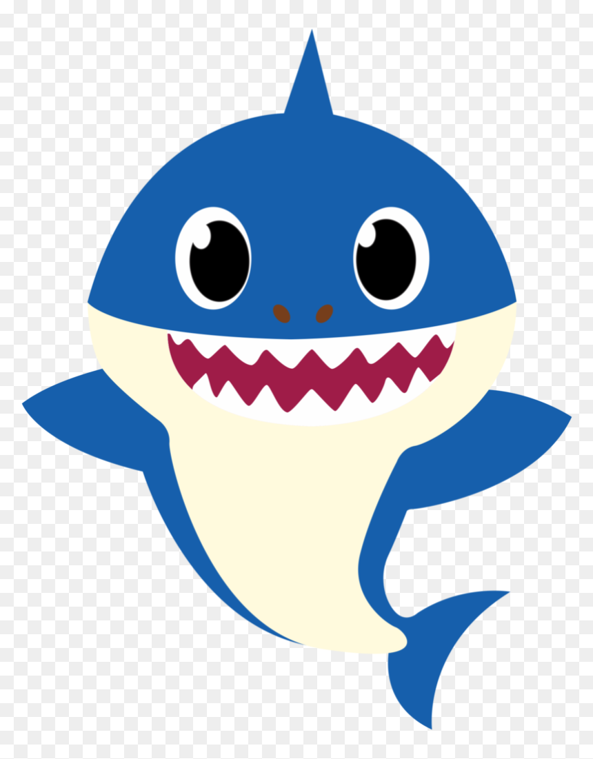 Transparent Brother Sister Clipart - Vector Baby Shark Png, Png Download
