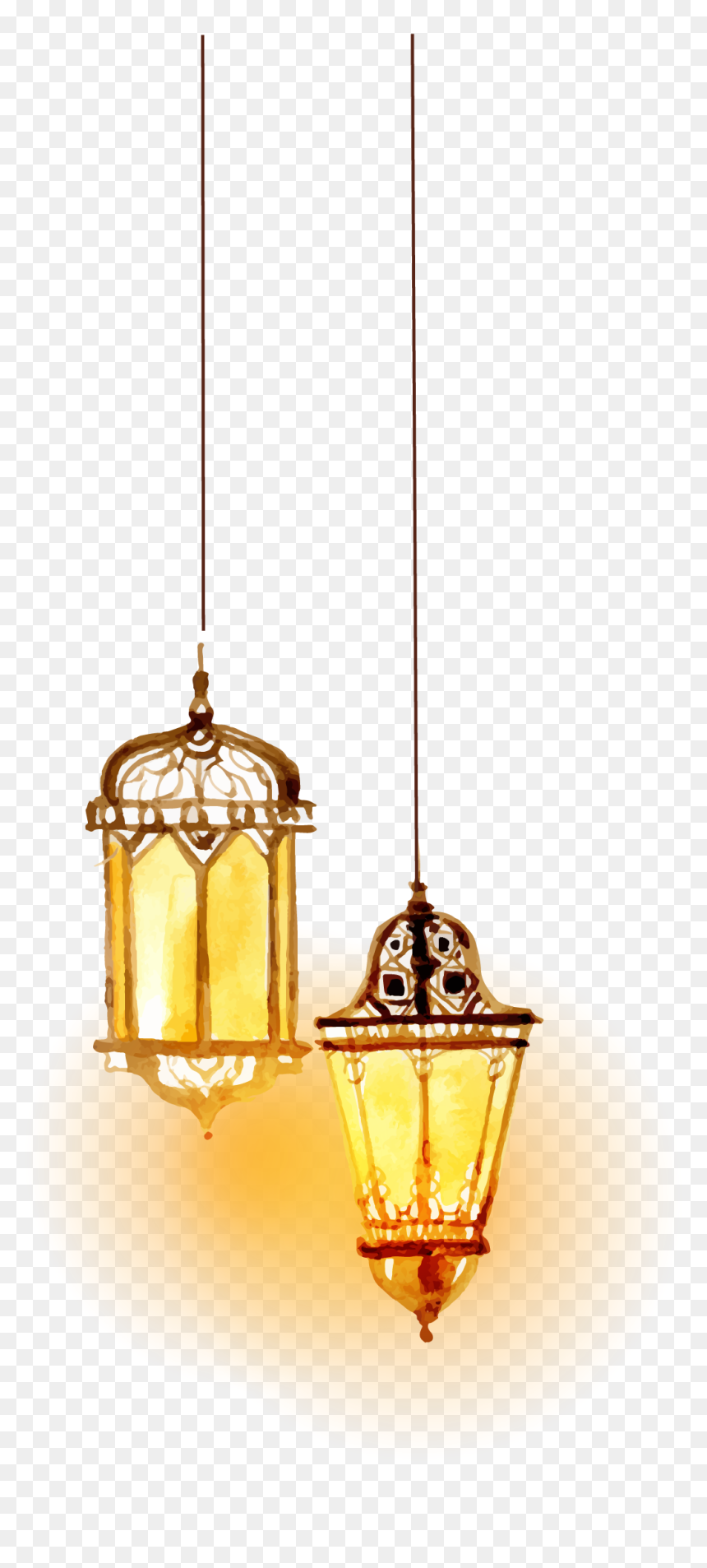 Transparent Islamic Lamp Png, Png Download
