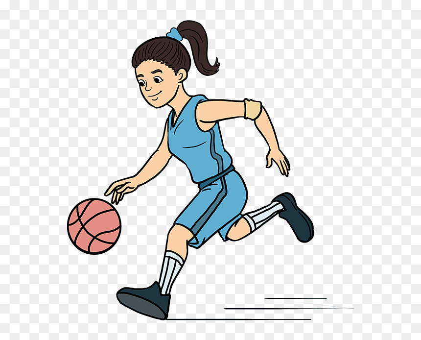 How To Draw A Basketball Player - Playing Basketball Drawing Easy, HD Png Download - 680x678 PNG - DLF.PT
