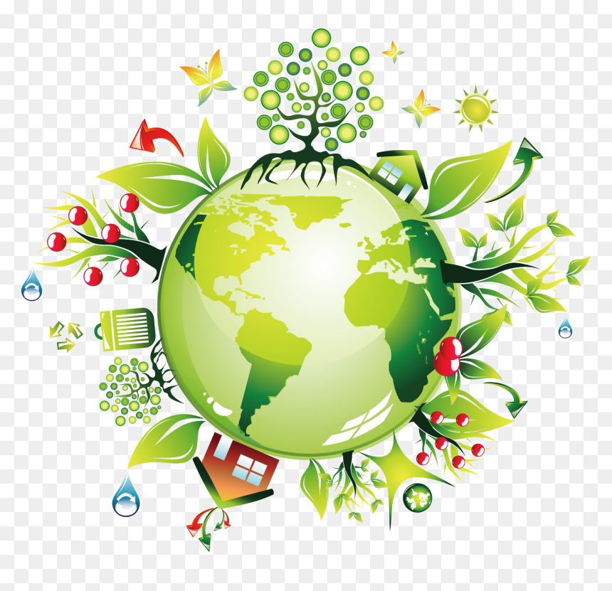 Earth Green Environmentally Friendly - Environment Friendly Clipart, HD Png Download