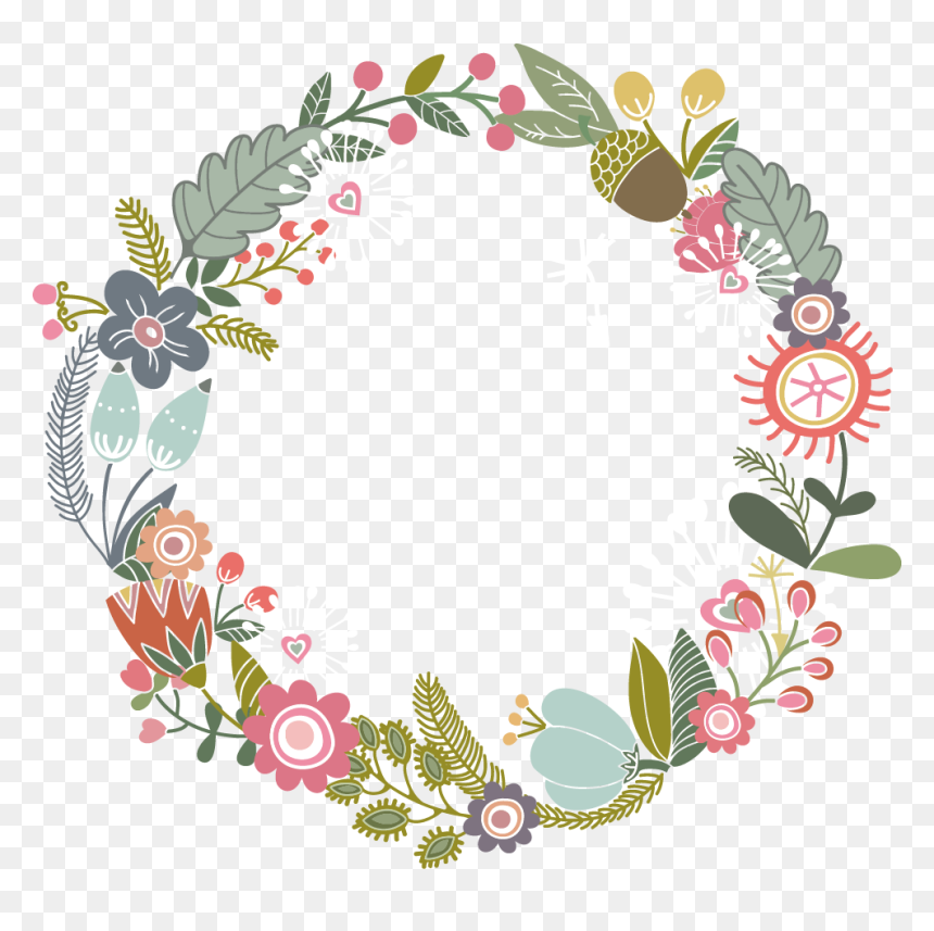 Flower Paper Design Floral Border Ribbon Clipart Transparent