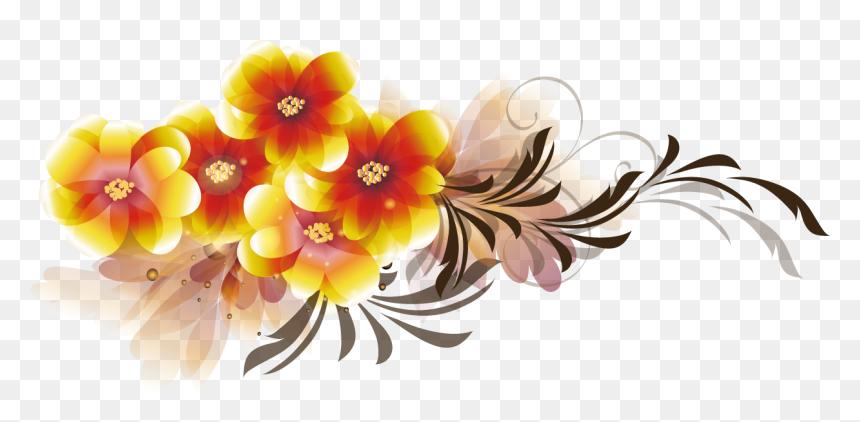 Transparent Flowers Vector Png - Flower Vector Design Png, Png Download