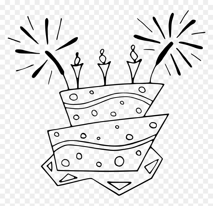 Coloring Book, Free Printable Kids Coloring Pictures, - Birthday Cake Clip  Art, HD Png Download - 800x750 PNG - DLF.PT