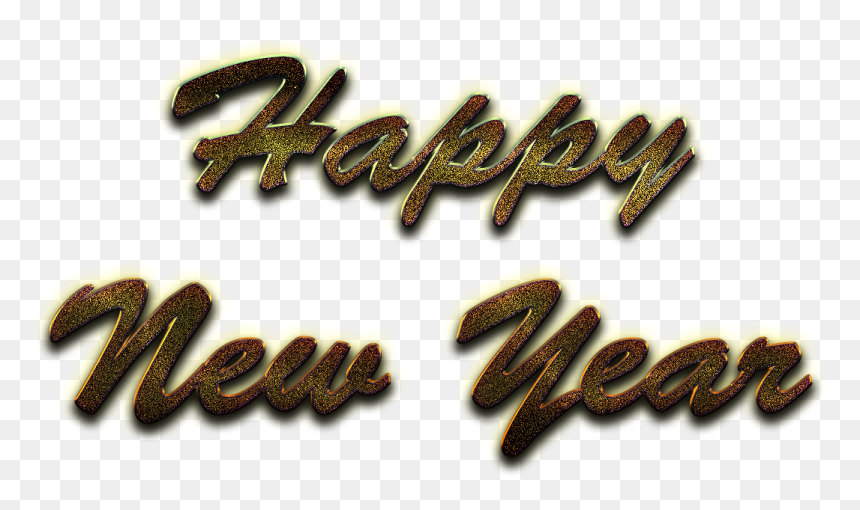 Happy New Year Word Art Png Image Background - Happy New Year Background Png, Transparent Png