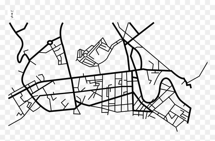 Street Map Png - City Street Map Png, Transparent Png