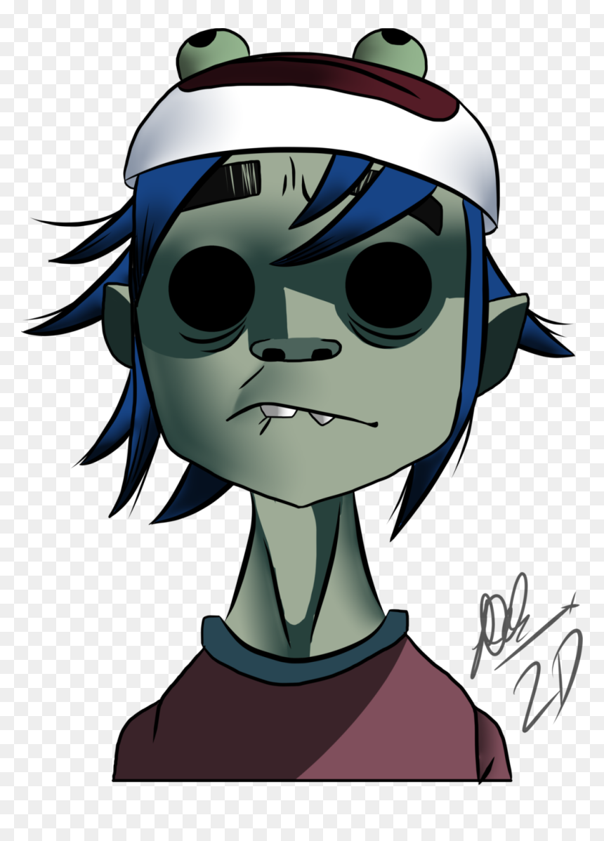 Character,clip Art,style - Gorillaz 2 D Character, HD Png Download