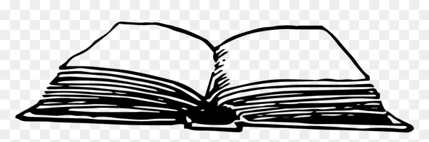 Libro, Leer, La Lectura, La Literatura, Libro Abierto - Gambar Buku Terbuka Hitam Putih, HD Png Download