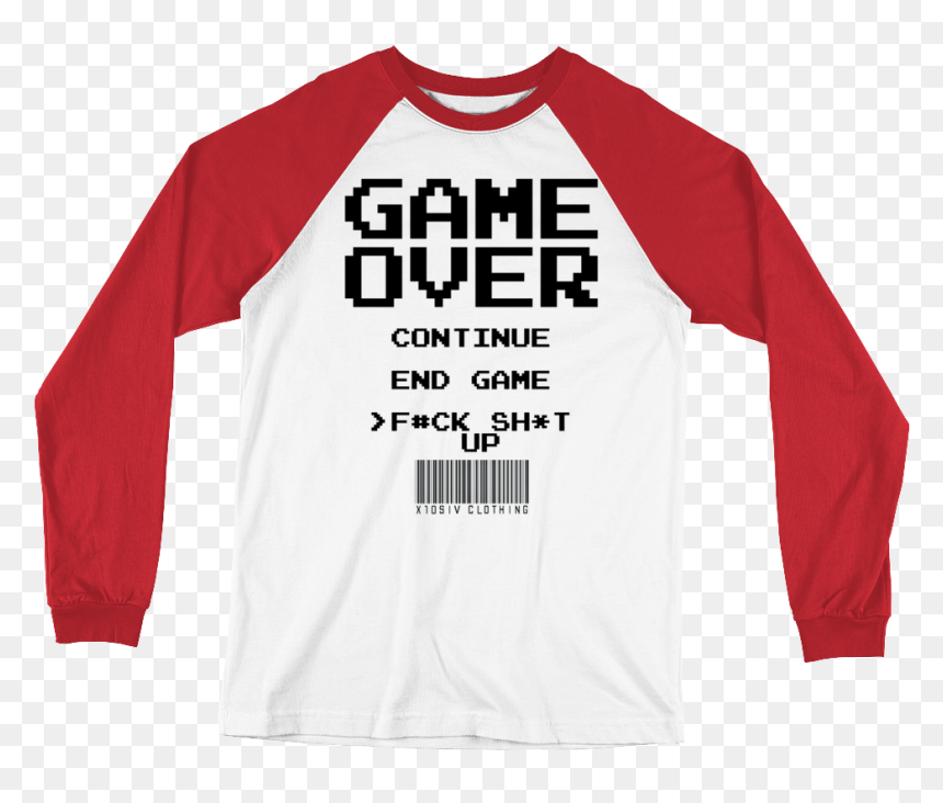 "Game Over Men""s Baseball T-shirt - T-shirt, HD Png Download"