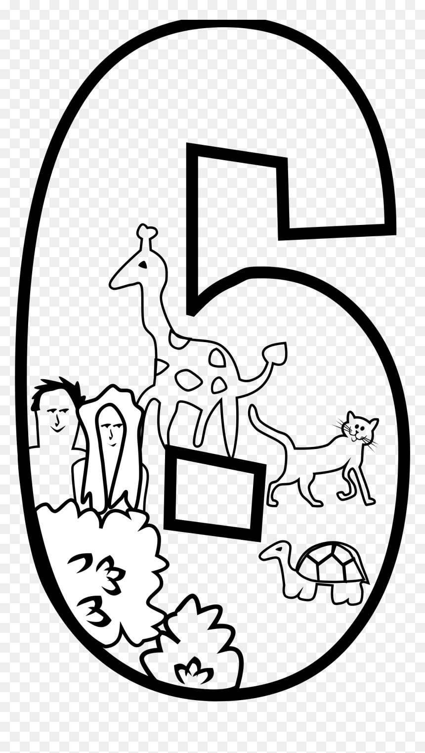 Creation Day Page Big - Coloring Pages Creation Story Day 6, HD Png Download