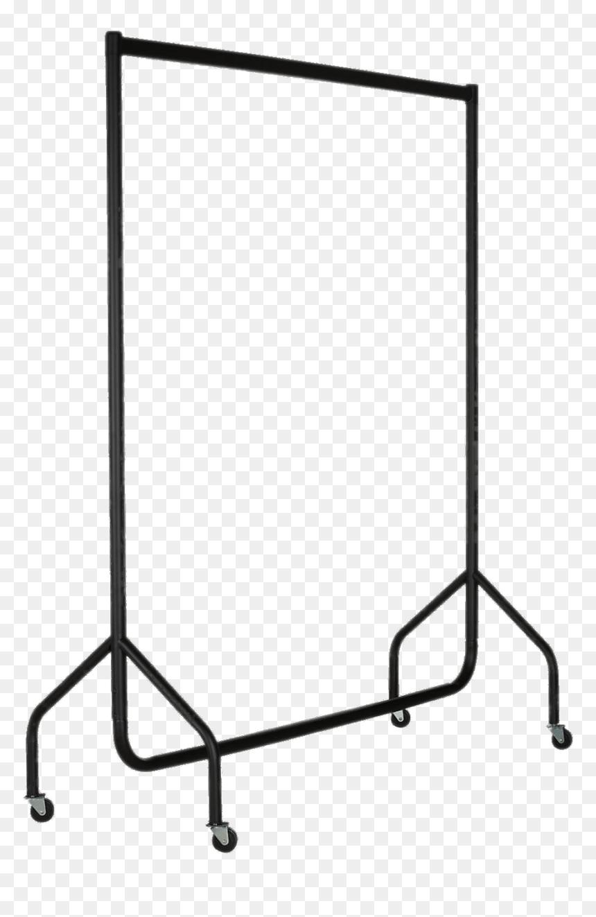 Coat Hanger Rail - Clothes Rack Clip Art, HD Png Download