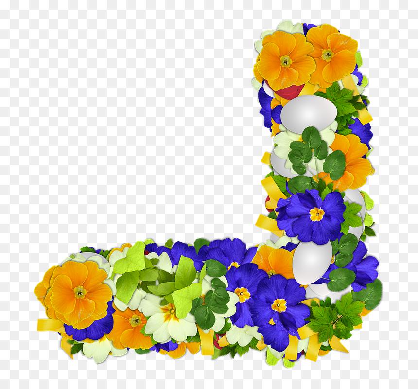 Bunga, Bunga Mawar, Png, Sudut, Telur, Paskah, Warna - Corner Flower Png, Transparent Png