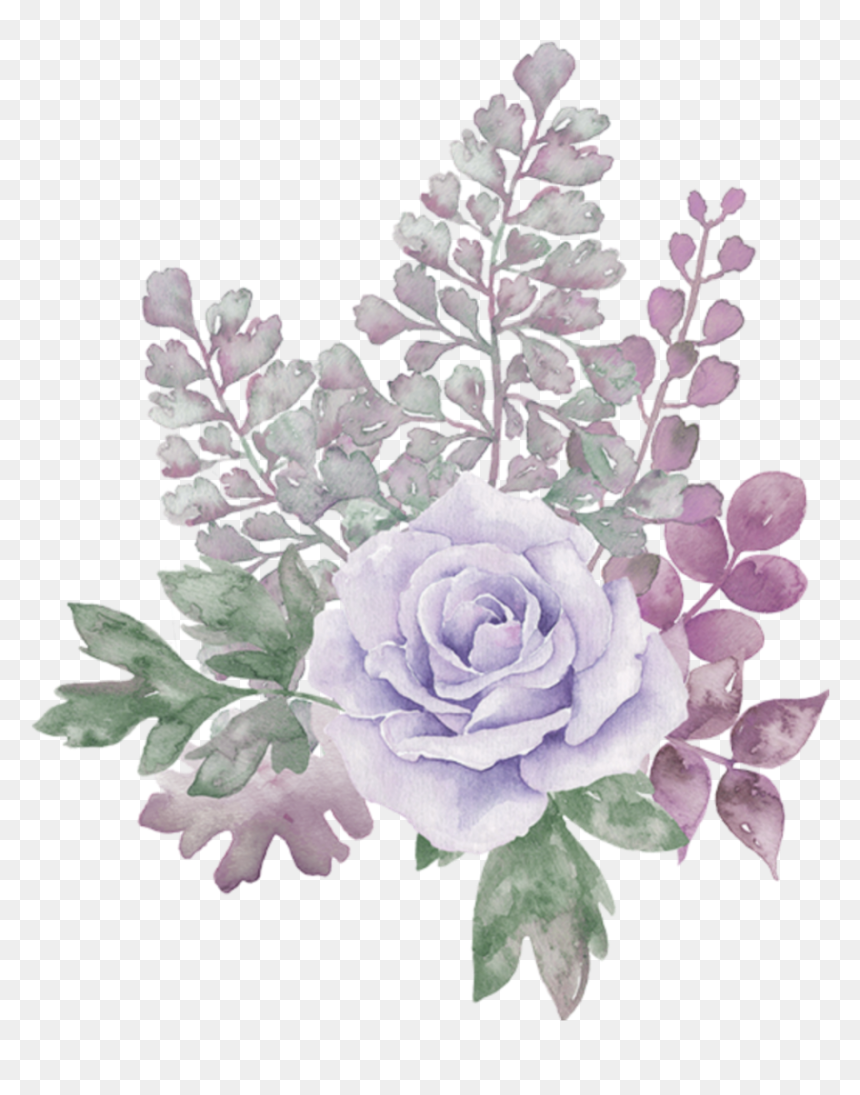 Pastel Floral Watercolor Background , Png Download - Transparent Background Flower Png, Png Download