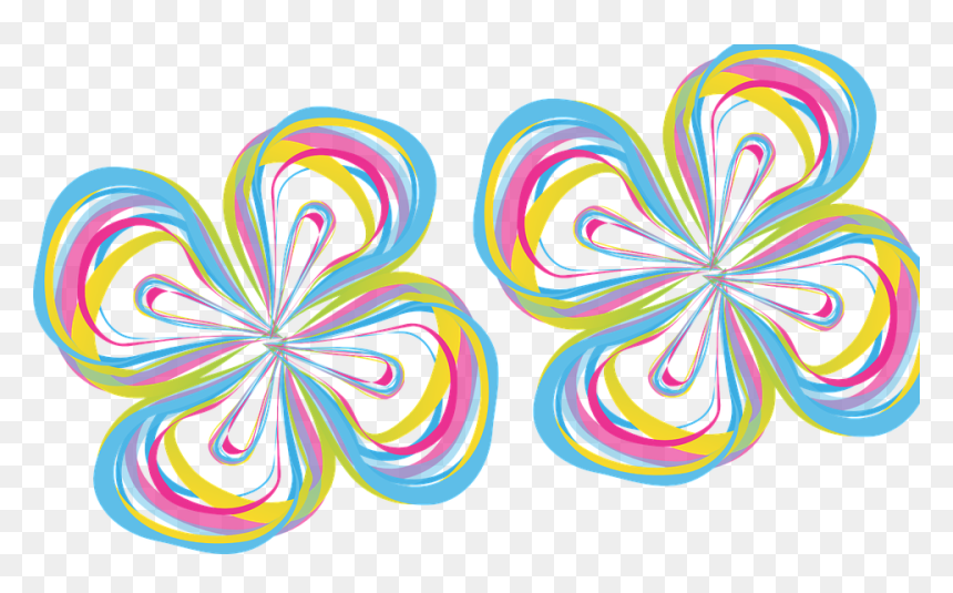 """Flower, Abstract, Color, Design, Colorful, 60""""s, Psycho - Abstrak Bunga Png, Transparent Png"""