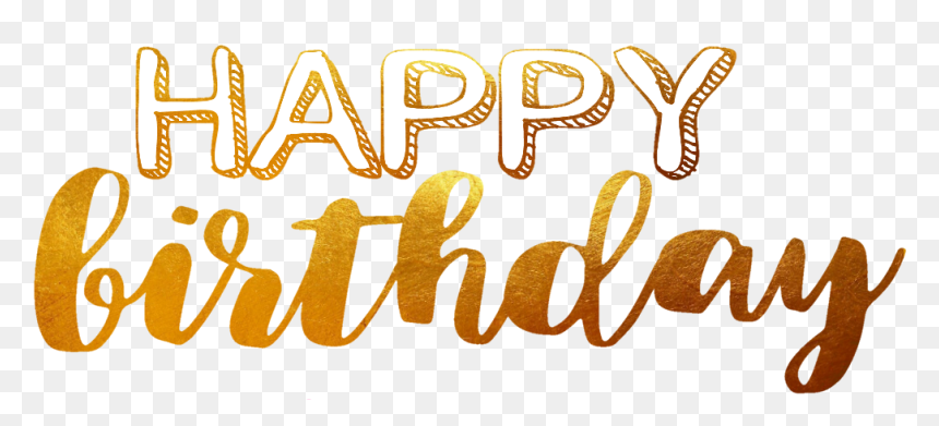 Happy Birthday Text Gold , Png Download - Gold Happy Birthday Png, Transparent Png