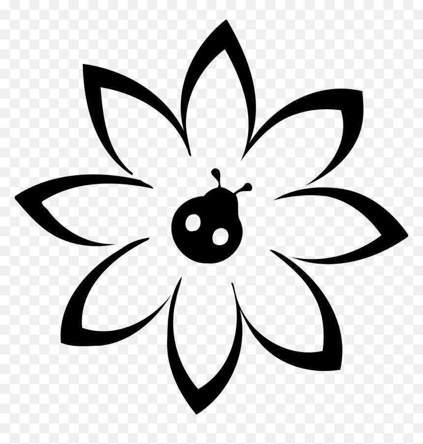 Flower With Ladybug - Bunga Kecil Vektor, HD Png Download
