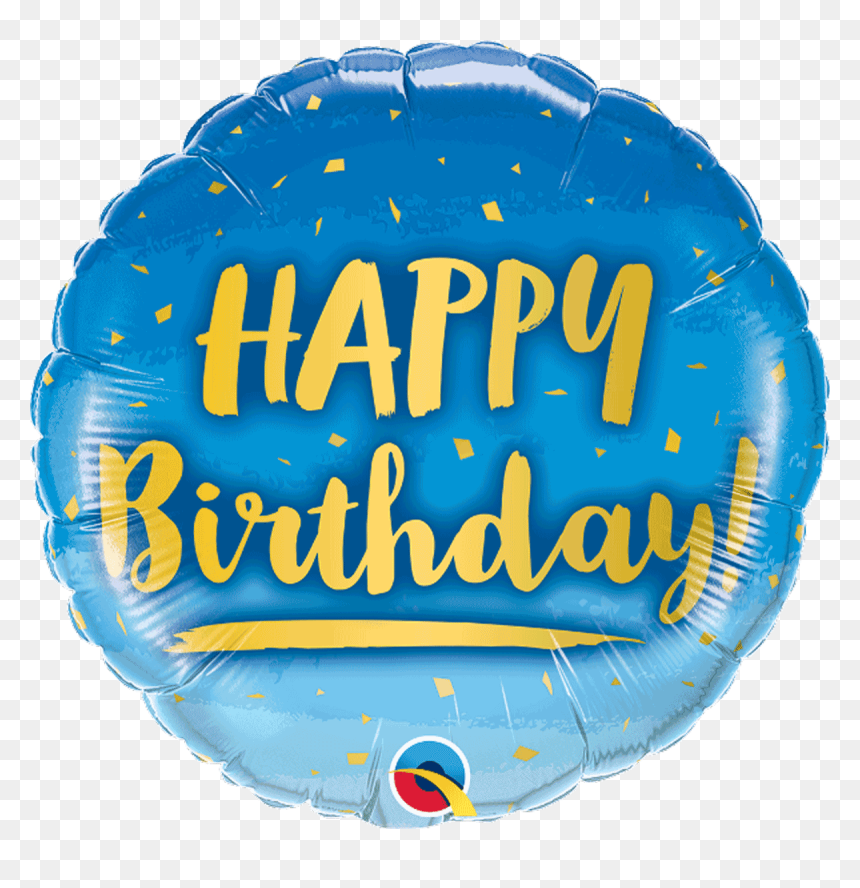 Happy Birthday Gold & Blue - Inflatable, HD Png Download