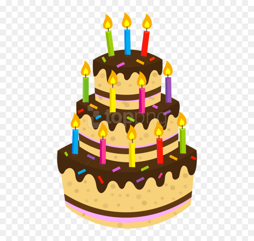 Birthday Cake Png Hd - Transparent Background Birthday Cake Png, Png Download