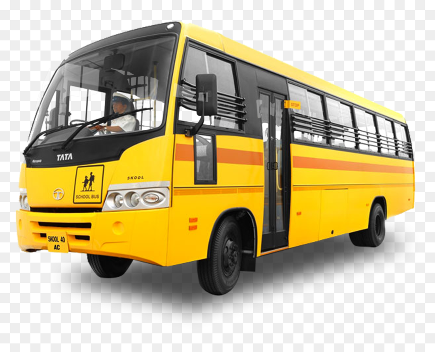 Yellow Color School Bus, HD Png Download