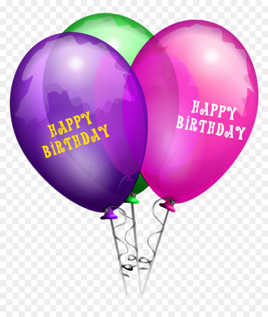 Happy Birthday Balloon Png, Transparent Png