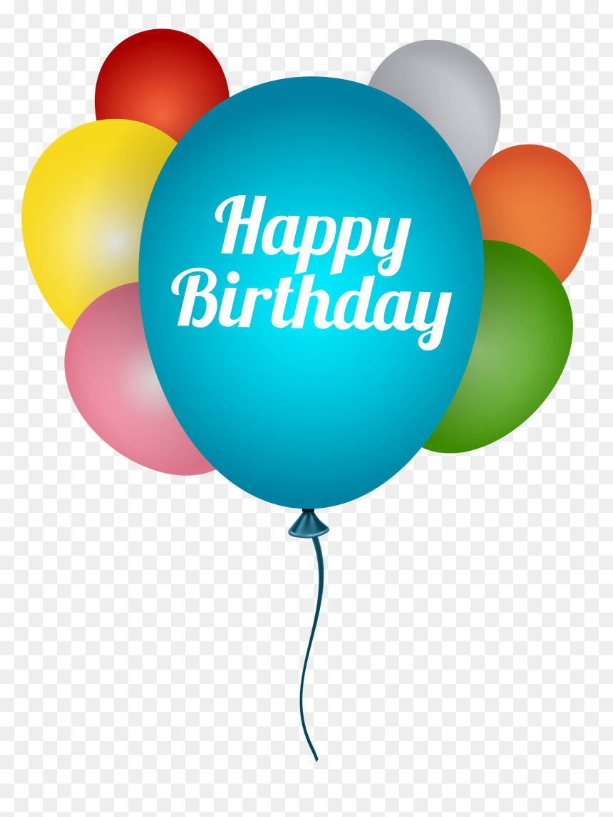 Happy Birthday Clip Art Balloons, HD Png Download