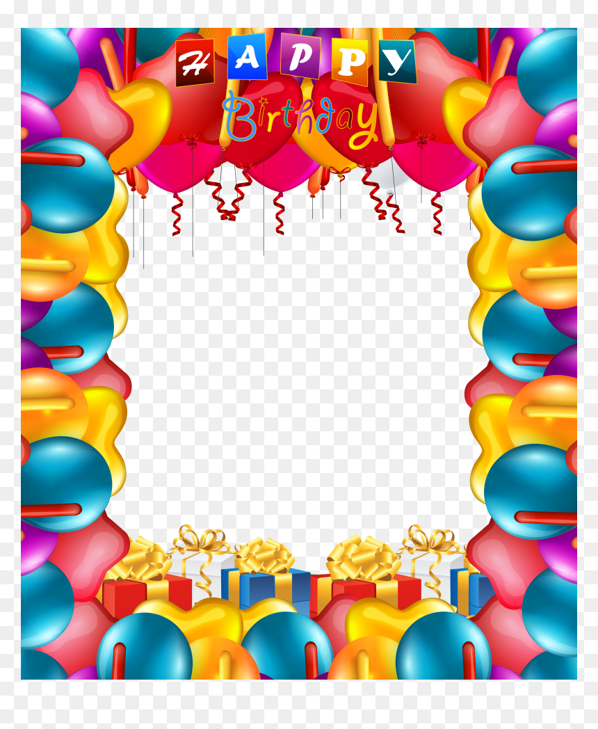 Happy Birthday Frame Png, Transparent Png